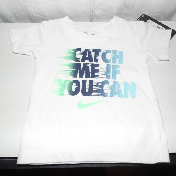 Boy's Nike Catch Me If You Can T-shirt 12 Mo NWT